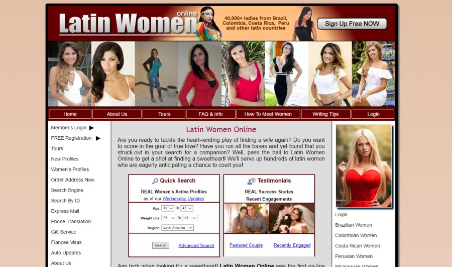 quinhagak latina women dating site Latin dating site - welcome to the simple online dating site, here you can chat, date, or just flirt with men or women sign up for free and send messages to single women or man.