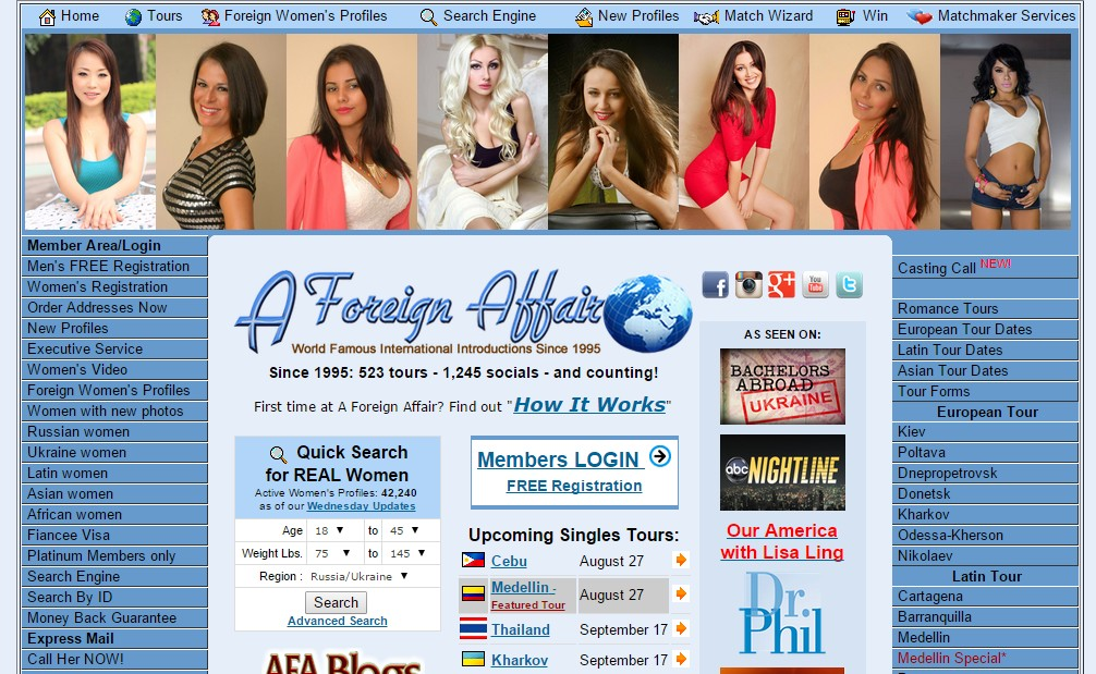 foreign affair dating services I had initially signed up for a foreign affair due to their location in the only reasonable possibility to meet women is ukraine online dating services.
