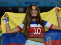 sexy colombian girl football