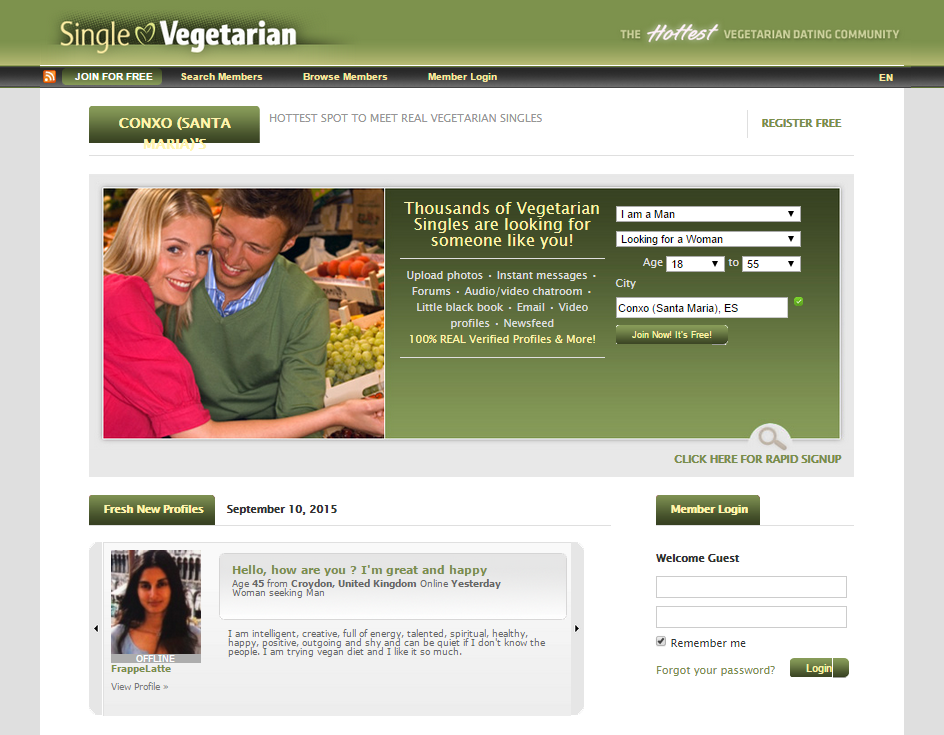 Vegetarian and vegan dating sites in the usa