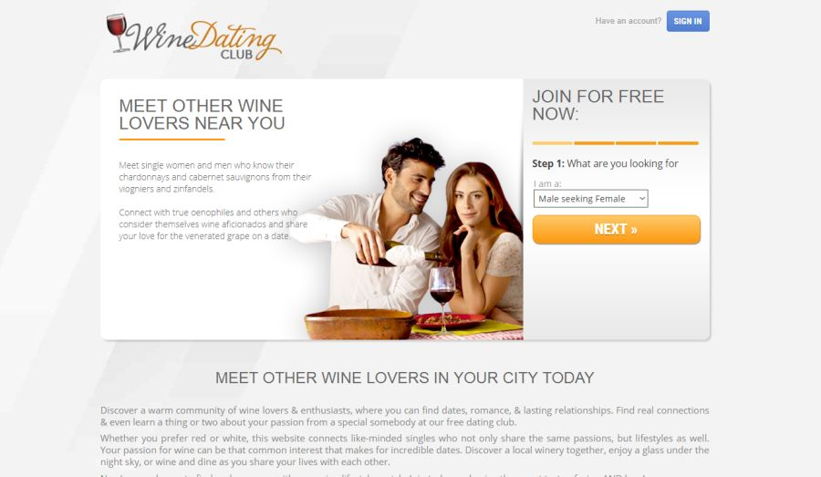 Search Members of Wine Dating Club by Location